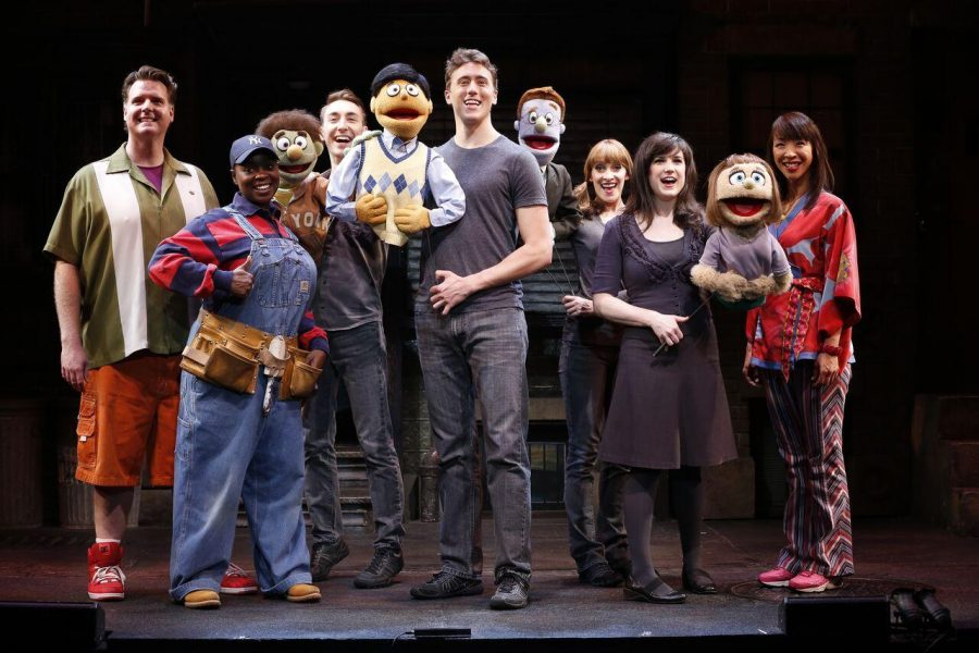 The cast of Avenue Q photo by Carol Rosegg