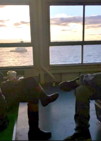 Staten Island Ferry Commuters Photo: Anna Pensabene
