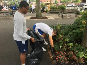 John Jay Athletics and Partnerships for Parks Team Up to Clean DeWitt Clinton Park