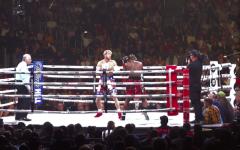 """Logan Paul making his boxing debut against fellow Youtuber,  Olajide """"KSI"""" Olatunji in 2019 (Wikimedia Commons)"""